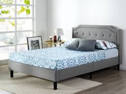tufted black or white leather modern platform bed on chrome legs