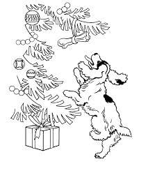 Dog And Christmas Tree Coloring Page Animal Pages Of Children S Tree Coloring Pages