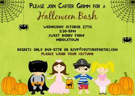 Halloween Birthday Party Ideas For Adults by Halloween Party Invite Design For Kiddies Kiddies Invitation