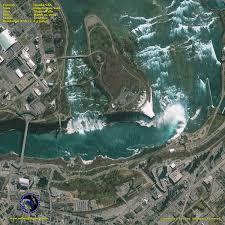 Niagra Falls Map Geoeye 1 Satellite Image Of Niagara Falls Satellite Imaging Corp