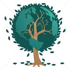 tree with earth globe leaves vector image 1872207 stockunlimited