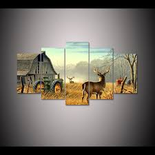 Wall Art For Living Room by Online Get Cheap Whitetail Deer Paintings Aliexpress Com