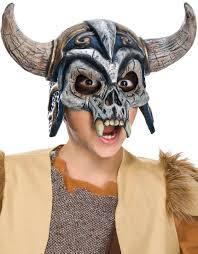kids scary chinless viking mask costume craze