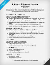 9 best lifeguard resume sample templates wisestep