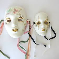 ceramic mardi gras masks shop vintage mardi gras masks on wanelo