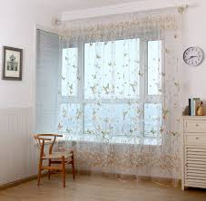panel curtain room divider honana wx colorful butterfly flower voile curtain panel window