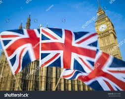 Colonial British Flag Great British Union Jack Flag Sflying Stock Photo 640716958