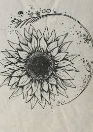 sunflower drawing shared by mollysmom124 on we heart it