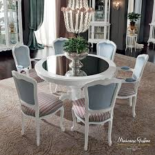ivory dining room with mirror table top dining room casanova