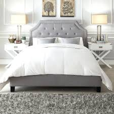 metal bed frame white inspire q grace grey linen button tufted