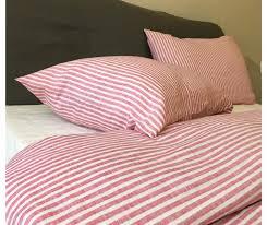 Pink Striped Comforter Striped Duvet Cover Handmade In Natural Linen Superior Custom