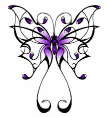 purple celtic butterfly sketch design tattoomagz