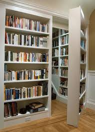 Basement Chair Rail - traditional library with standard height chair rail built in