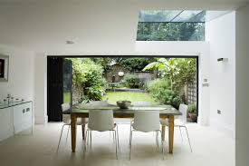 a dining room with garden view is the most brilliant idea to get a