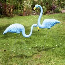 original plastic lawn flamingo garden ornaments by don