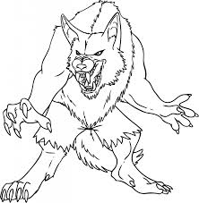 halloween werewolf coloring pages holiday halloween coloring