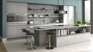 light grey kitchen kitchen cabinet integrated with breakfast bar