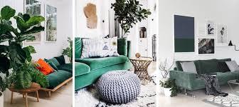 canap velours vert inspirations pour un canapé en velours joli place