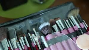 professional makeup artist tools professional makeup tools closeup stock footage 16980205