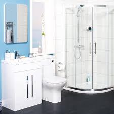 curved 900mm quadrant shower enclosure bathroom suite with lh
