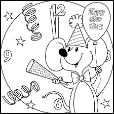 mickey mouse new years coloring pages happy new year coloring pages getcoloringpages com