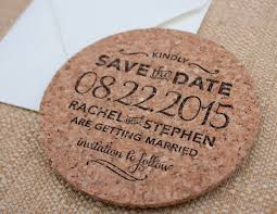 save the date in custom sted cork coaster save the date