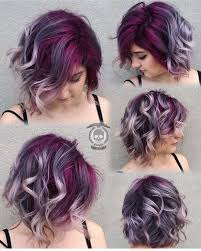 salt and pepper hair with lilac tips gorgeous colorful hair deep purple lavender silver gray hair