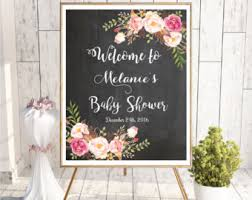 baby shower welcome sign shower welcome sign etsy