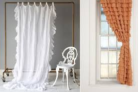 Curtains With Ruffles Country Style Look With Ruffled Curtains Country Style Look With