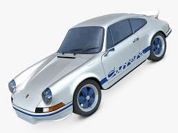 60s porsche 911 carrera rs 3d c4d