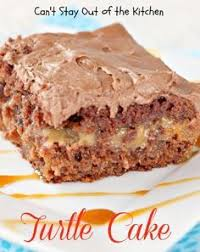 cake based on turtle candies german chocolate cake filled with