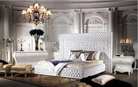 soft bed frame leather bed luxury leather bedroom furniture modern bed modern