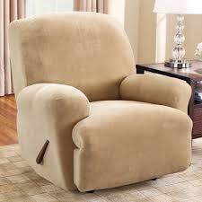 Reclining Wingback Chairs Furniture Unique Beige Fabric Wingback Recliner Decor With Wood