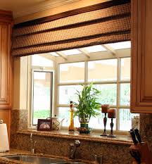Window Treatments For Bay Windows In Dining Rooms Kitchen Bay Windows Dining Room Beach With Bamboo Shades Black