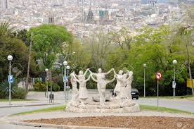 dancers statue sardana dancers statue in barcelona spain stock photo picture and