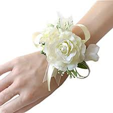 Cheap Corsages For Prom Amazon Com White Silk Rose Corsage Wedding Corsage Prom Home