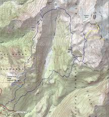 Pacific Crest Trail Washington Map by Ives Peak U0026 Hawkeye Point Goat Rocks Wilderness