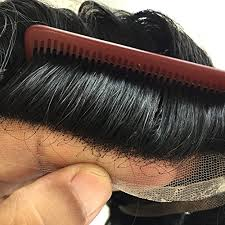 1 inch of hair fine mono with 3 pu bands with 1 inch french lace front human hair