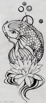 water lilly koi fish by iop designs on deviantart