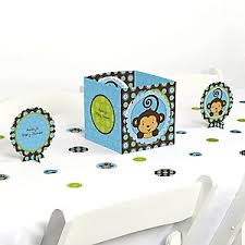 monkey centerpieces for baby shower monkey boy baby shower decorations theme babyshowerstuff