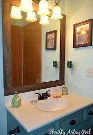 Wood Framed Mirrors For Bathroom by Easy Diy Reclaimed Wood Frame On A Builders Grade Mirror Hometalk