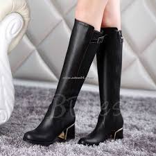 womens white knee high boots nz nz 174 womens boots floss toe back zipper knee high