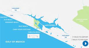 Panama City Map A Scenic Lakeside Community In Panama City Beach Florida