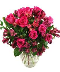 Bouquet Of Roses Flowers To Order Alstroemeria Roses Bouquet Fineflora