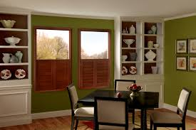 interior plantation graber shutters window coverings with wall
