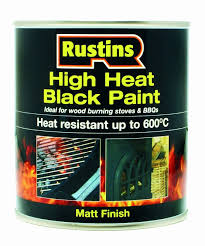 rustins 250ml high heat paint black amazon co uk diy u0026 tools