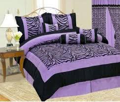 Queen Zebra Comforter Amazon Com Bednlinens 7 Piece Queen Fresca Purple Leaves Bedding
