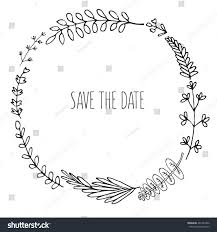 floral wreath outline graphic stock illustration 461284762