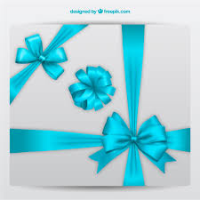 decorative bows decorative bows in blue colors vector free