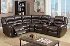 Leather Sofa With Studs by Brown Leather Reclining Sectional Steal A Sofa Furniture Outlet